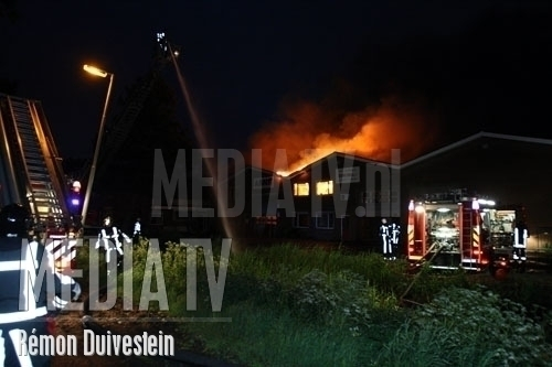 Grote Brand leegstaand pand