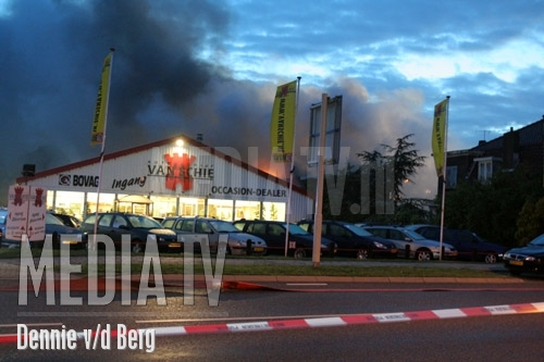 Grote brand in autogarage