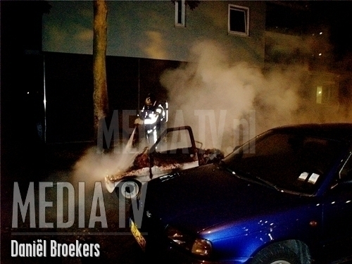 Brom mobiel in brand