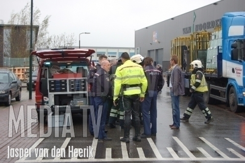 Onwel na openen container uit China