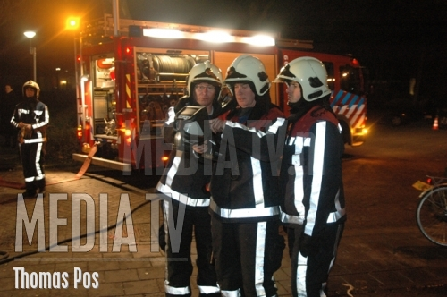Middelbrand door kerstboom