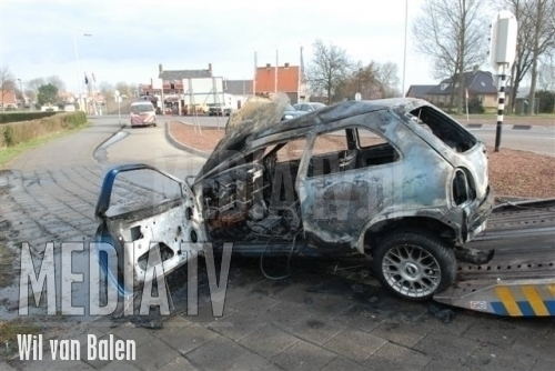 Auto in brand na ongeval