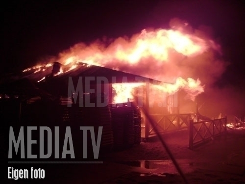 Brand in strandpaviljoen