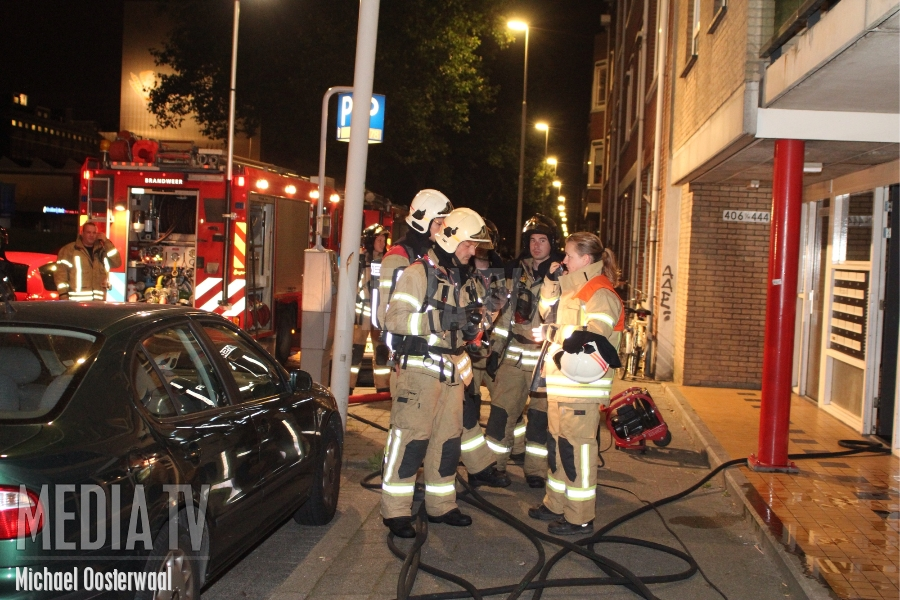Brand in portiek Brielselaan
