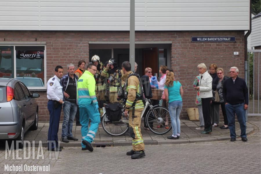 Middelbrand in yogacentrum Willem Barentszstraat