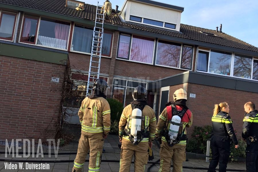 Brand in woning aan de Toendra in Capelle a/d IJssel (video)