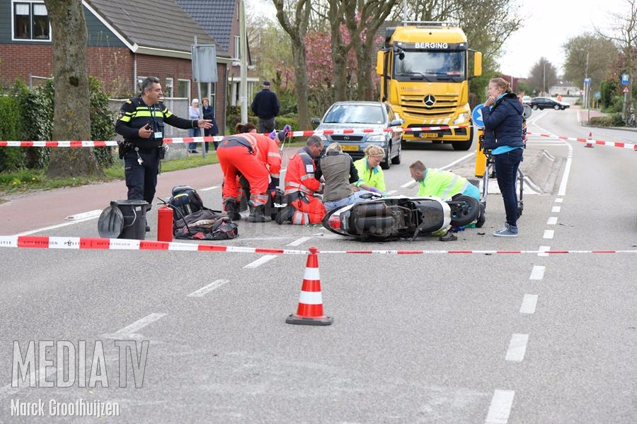 Scootterrijder aangereden op de G.J. vd Boogerdweg in Brielle (video)