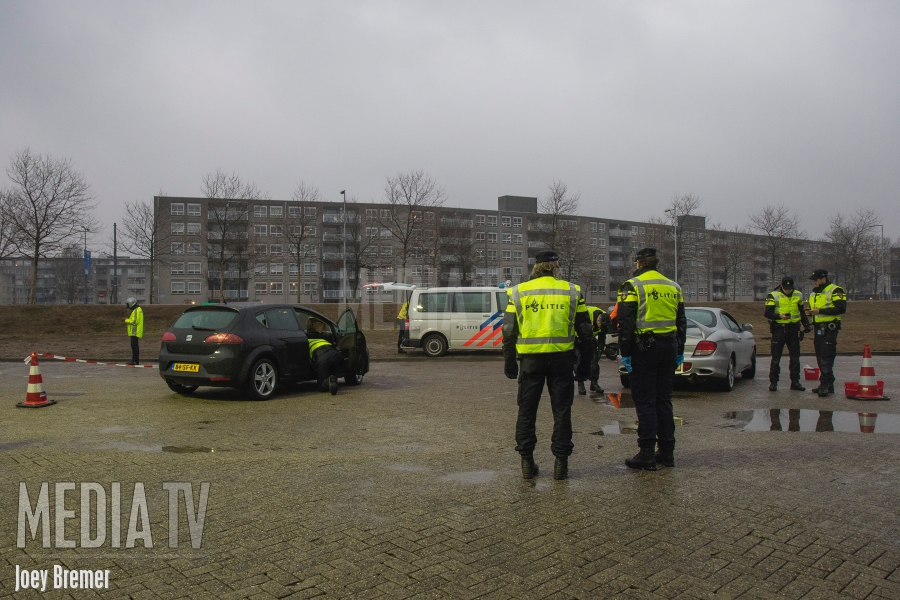 Politiecontroles in Rotterdam-West