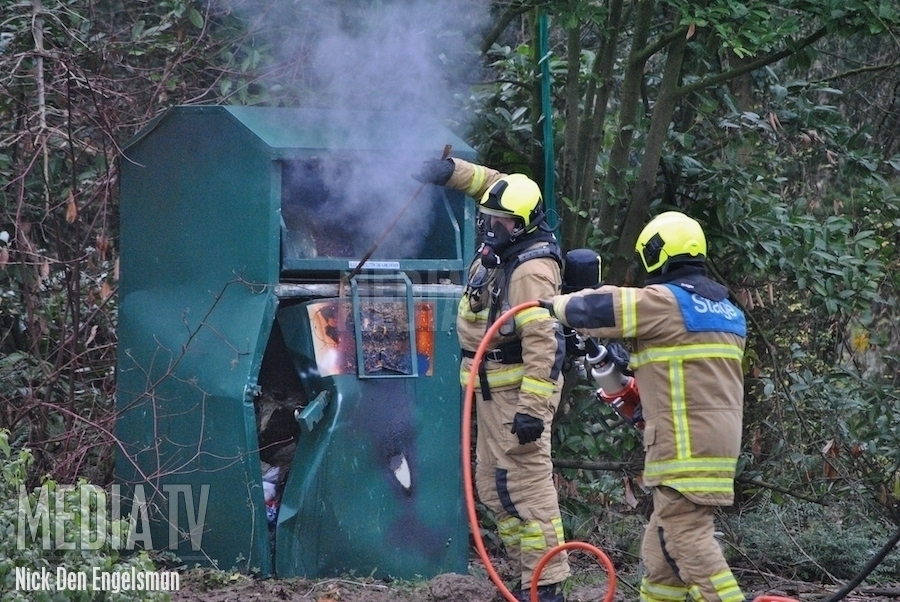 Brand in kledingcontainer Heerjansdam